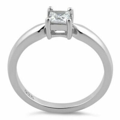 £24.99 • Buy Sterling 925 Silver Engagement Ring 0.75 Ct Princess Cut Lab Created Diamond
