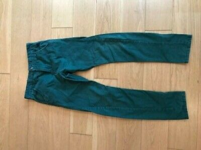Next Boys Dark Green Chinos - Skinny Fit With Twisted Seams - Age 11 • 4.65£