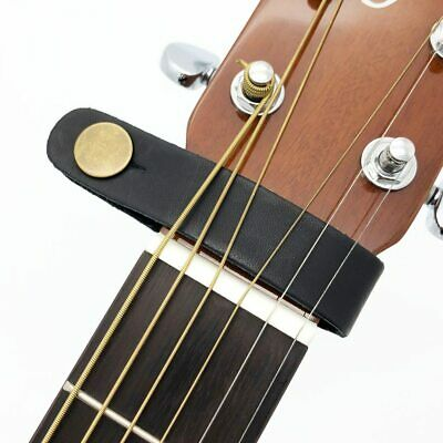 $ CDN6.72 • Buy Leather Guitar Strap Holder Button Safe Bass Guitarra Classic Electric Acoustic