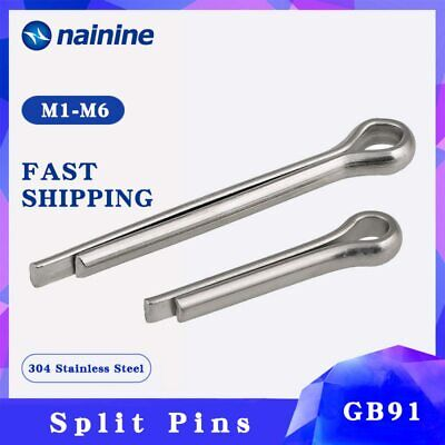 $16.17 • Buy GB91 [M1-M10] 304 Stainless Steel Cotter Pin Split Pins A018