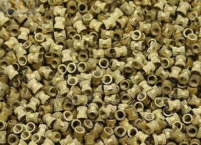 $6.92 • Buy 100pcs M2 M2.5 M3 Copper Inserts Brass Double Pass Knurl Nut Embedded Fastener