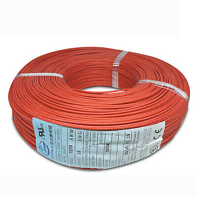 AU17.16 • Buy Red 14-30AWG Flexible Silicone Wire Cable , HIGH TMPE 200℃, 3KV High Voltage