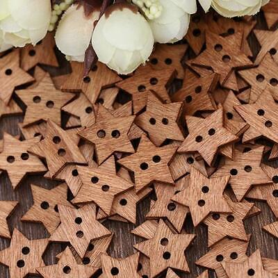 £2.44 • Buy Star Shaped Wooden Crafting Buttons Brown Pack Of 50