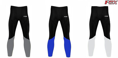 FCX Mens Compression Tights Base Layer Cycling Sports Gym Yoga Fitness Trouser • 10.49£