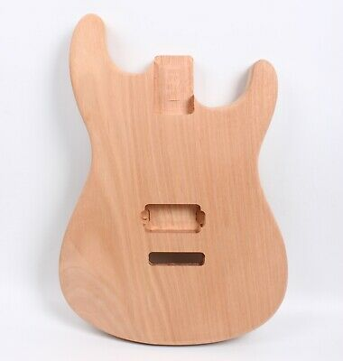 $85 • Buy Unfinished Guitar Body For DIY Electric Guitar Mahogany Wood Replacement