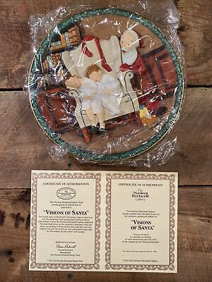 $ CDN36.51 • Buy Visions Of Santa- Norman Rockwell Christmas Legacy 3D Collector Plate 1993 - New