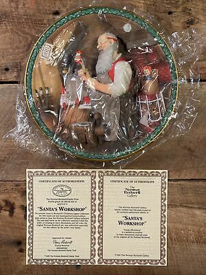$ CDN36.51 • Buy Santa's Workshop - Norman Rockwell Christmas Legacy 3D Collector Plate 1992 New!