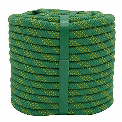 Static Rock Climbing Rope 2/5 Inch 100 Feet Outdoor Safety Fire Escape Rope  • 39.73£