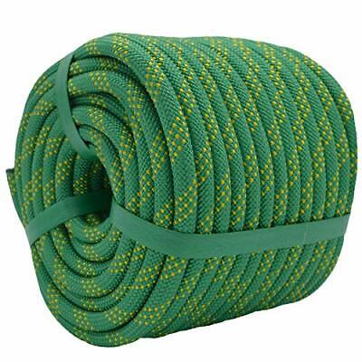 Static Rock Climbing Rope 2/5 Inch 50 Feet Outdoor Safety Fire Escape Rope  • 21.36£