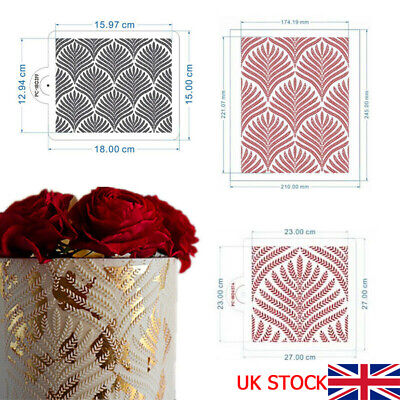 £6.60 • Buy Cake Stencil Flower And Leaf Cake Decorating Tools Wedding Wheat Ears Cake X PH