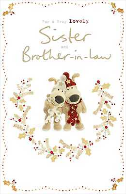 £5.49 • Buy Boofle Sister & Brother-In-Law Christmas Greeting Card Cute Xmas Cards