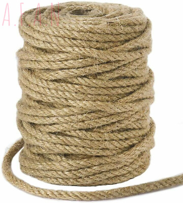 Tenn Well 5mm Jute Rope, 100 Feet Twisted Thick Twine String For DIY...  • 23.19£