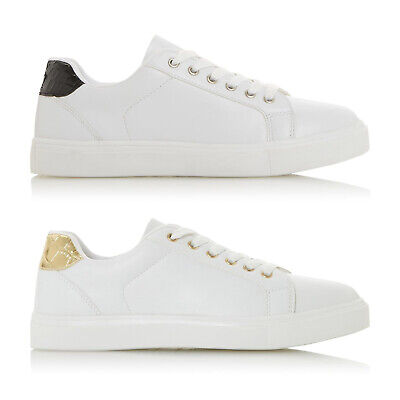 $ CDN17.63 • Buy EX STORE Ladies Womens White Lace Up Flat Trainers Shoes Size 3 4 5 6 7 8