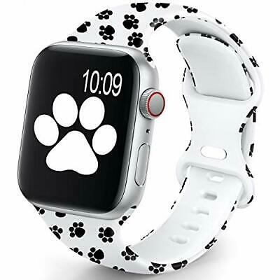 $ CDN15.75 • Buy Apple Watch 38mm 40mm Silicone Replacement Band For IWatch 6 5 4 3 2, Paw Print