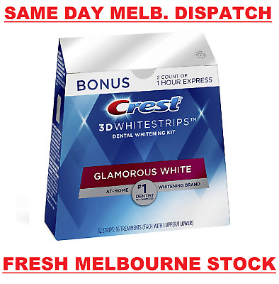 AU114.50 • Buy Crest 3D 28 X Glamorous White & 4 X 1 Hour Express Teeth Whitening (32 Strips)