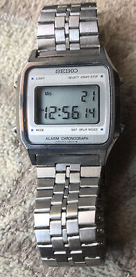 $ CDN95.72 • Buy Seiko Alarm Chronograph Vintage Digital Watch A914-5A09 Stainless Steel Works!