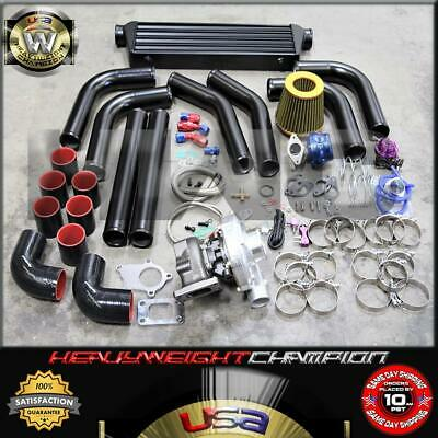 $ CDN632.95 • Buy Universal Performance Turbo Charger Kit T3/T4+Intercooler+Bov+Wastegate Black