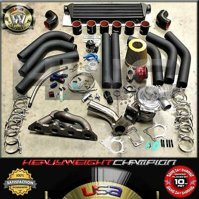 AU834.78 • Buy 96-05 Eclipse Spyder RS 4G64 Galant Turbo Charger Kit T3/T4 Manifold+Bov