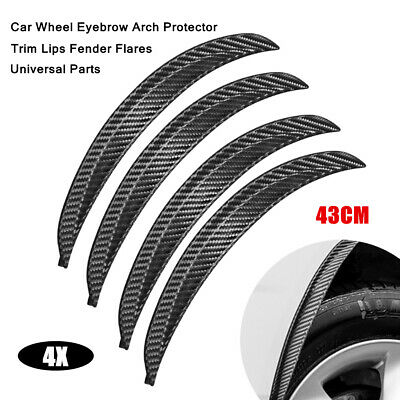 $43.79 • Buy 4X 43CM Car Universal Wheel Eyebrow Arch Protector Trim Lips Fender Flares Parts