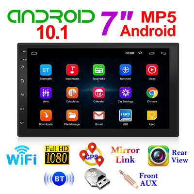 AU110.99 • Buy 7  Double 2DIN Quad Core Android 10.0 Car Stereo MP5 Player GPS Navi FM Radio AU