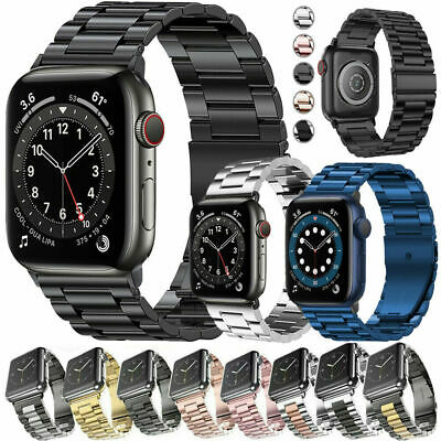 $12.99 • Buy Stainless Steel For Apple Watch Series 6 5 4 3 2 SE Bracelet Strap Band 40/44mm
