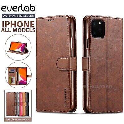 AU12.79 • Buy Leather Wallet Flip Case Cover Stand For IPhone 12 11 Pro Max XS XR 7 8 Plus