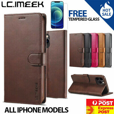 AU12.79 • Buy Leather Wallet Flip Case Cover Stand IPhone XS Max XR 7 8 Plus 12 Se 11 Pro Max