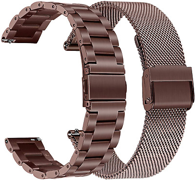AU54.15 • Buy Samsung Galaxy Watch 3 41mm Active 2 Band 20mm Stainless Steel Bracelet Strap