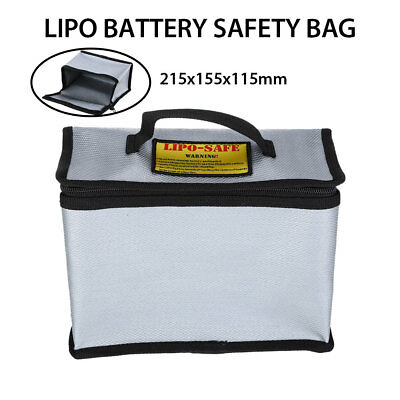 Fireproof RC Drone LiPo Battery Explosion-Proof Safe Security Charge Bags Sliver • 10.61£