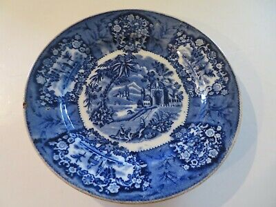 $15 • Buy 1- ANTIQUE Blue & White 8 3/4  Plate By MAASTRICHT-Made In HOLLAND