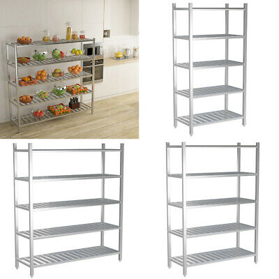 3/6FT Stainless Steel Kitchen Shelving Commercial Garage Storage Rack Heavy Duty • 115.14£