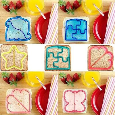 Creative Plastic Kids DIY Lunch Sandwich Toast Mold Cake Bread Cutter Mould • 2.09£