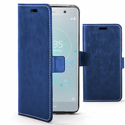 AU7.63 • Buy Sony Xperia XZ2 Premium Case Cover By FC® - PU Leather Flip Wallet Stand - Blue