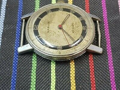 £148.68 • Buy RARE!!MARVIN MILITARY 2 TONE DIAL WWII 40-50's CAL.535VINTAGE 35mm SWISS WATCH