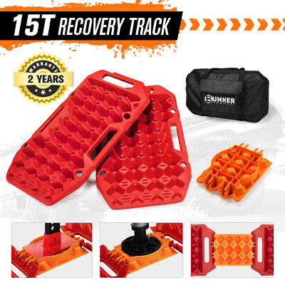 AU119.95 • Buy BUNKER INDUST Pair Recovery Tracks Sand Track Red 15T 4WD Car Accessories 4x4