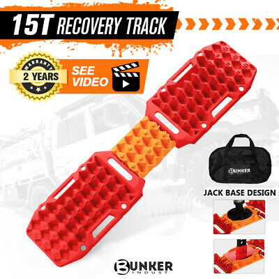 AU109.95 • Buy BUNKER INDUST Recovery Tracks Sand Track Red 15T 4WD Car Accessories 4x4