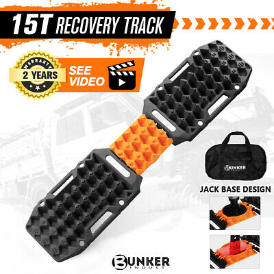 AU119.95 • Buy BUNKER INDUST Pair Recovery Tracks Sand Track Black 15T 4WD Car Accessories 4x4