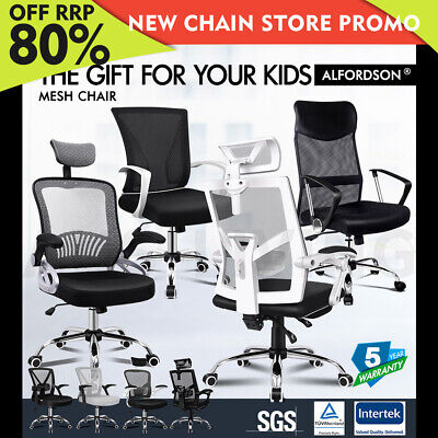 AU129.79 • Buy ALFORDSON Mesh Office Chair Gaming Executive Fabric Seat Racing Tilt Computer