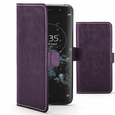 $ CDN7.49 • Buy Sony Xperia XA2 Plus Case Cover By FC - PU Leather Flip Wallet Stand - Purple