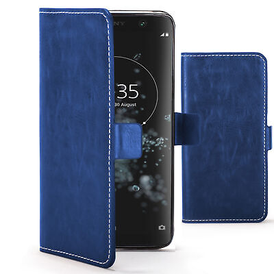 $ CDN7.49 • Buy Sony Xperia XA2 Plus Case Cover By FC - PU Leather Flip Wallet Stand - Blue