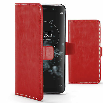 $ CDN7.49 • Buy Sony Xperia XA2 Plus Case Cover By FC - PU Leather Flip Wallet Stand - Red