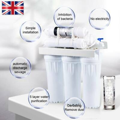 6 Stage Under Sink Ultra FiltrationDrinking Water Filter System Faucet Purifier • 56.99£