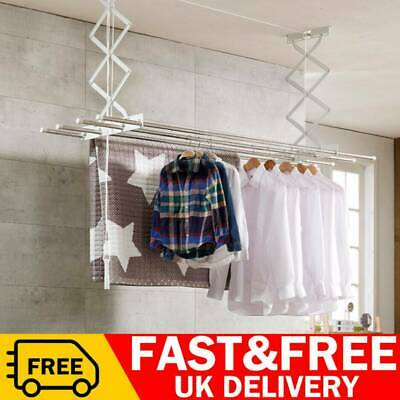 £24.99 • Buy Ceiling Clothes Dryer Laundry Lifter Pulley Airer Drying Space Rack Patio Indoor