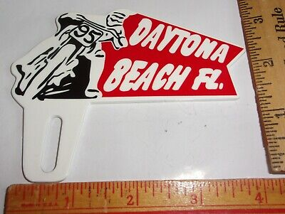 $ CDN76.24 • Buy Porcelain  Daytona  License Plate Topper Vintage Old Motorcycle Race Collectible