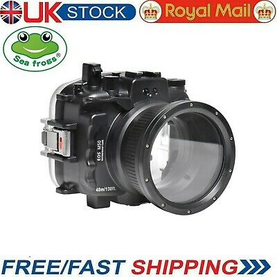 Seafrogs 40m/130ft Underwater Camera Housing Case For Canon EOS M50 18-55mm • 329£