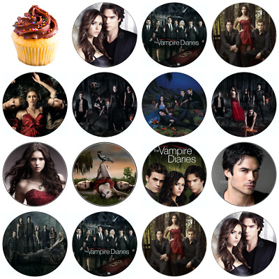 £6.50 • Buy Vampire Diaries Edible Cake Topper Wafer Icing Birthday Party Deco New Muffin