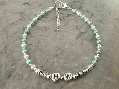 AU9.90 • Buy HW Hotwife Anklet Glass Pearl Silver Plated Bead 9 +1  Unwanted Xmas Gift