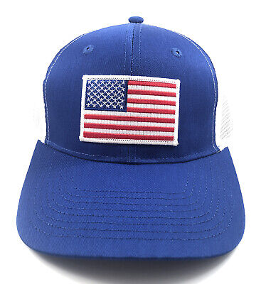 American Flag Red White And Blue Trucker Hat Patch Cap Snapback • 12.26£