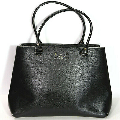 $ CDN126.06 • Buy Kate Spade Black Career Casual Business Tote Purse Leather Handbag Lined Pink