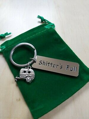 £4.99 • Buy CARAVAN / CAMPERVAN Shitters Full Keyring With Free Gift Pouch